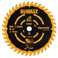 DeWalt DT1668-QZ Medium Saw Blade for Cordless Mitre Saws 184mm x 16mm x 40 Teeth
