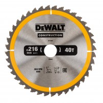 DeWalt DT1953-QZ Circular Saw Blade Construction 216mm x 30mm x 40 Teeth