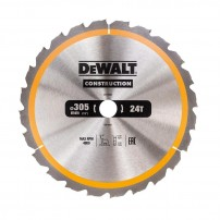 DeWalt DT1958-QZ Circular Saw Blade Construction 305mm x 30mm x 24 Teeth