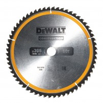 DeWalt DT1960-QZ Circular Saw Blade Construction 305mm x 30mm x 60 Teeth