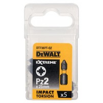 DeWalt DT7387T-QZ Pz2 x 25mm Extreme Impact Torsion Screwdriver Bits Pack of 5
