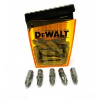 DeWalt DT7908-QZ Pz2 x 25mm Screwdriver Bits Pack of 25 in Flip-Top Case