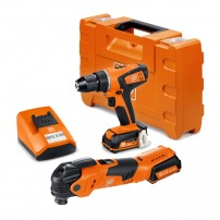 Fein AFMT 12 Q Multitool & ABSU 12 C Drill Driver 12v Twin Kit inc 2x 2.5Ah Batts