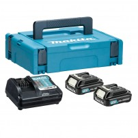 Makita 197646-2 10.8v CXT Power Source Kit inc 2x 2.0Ah Batts, Charger & Makpac Case