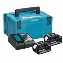 Makita 197624-2 Power Source Kit inc 2x 5.0Ah Batts, DC18RC Charger & Makpac Case