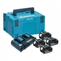 Makita 98C431 Power Source Kit inc 4x 4.0Ah Batts, Twin Charger & Makpac Case