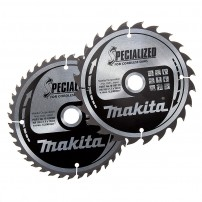 Makita B-49317 165mm x 20mm x 24T & 40T Circular Saw Blade Twin Pack Specialized