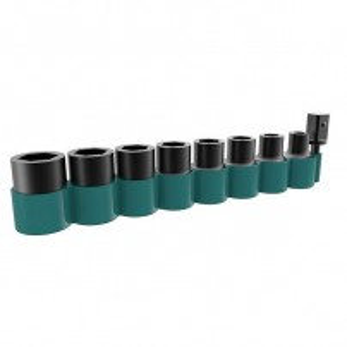 "Makita B-54645 1/2"" Drive Impact CR-MO Socket Set with 1/4"" Hex Converter 9 Pcs"