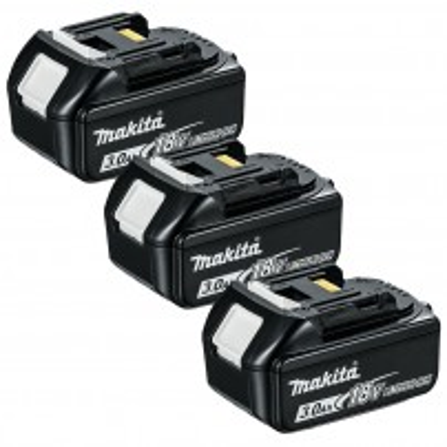 Makita BL1830X3 18v LXT 3.0Ah Li-Ion Battery Triple Pack