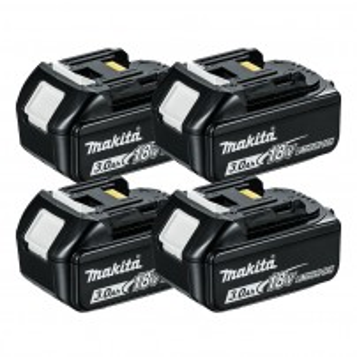 Makita BL1830X4 18v LXT 3.0Ah Li-Ion Battery Quad Pack
