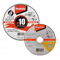Makita D-18770-10 Thin Cutting Discs in Tin x10 Pcs 125mm