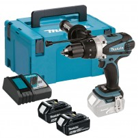 Makita DHP458RTJ 18v Combi Drill with 2x 5.0Ah Batts in Makpac Case