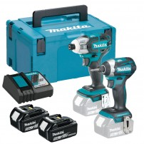 Makita DLX2211TJ 18v Brushless Twin Kit DTS141 Oil Pulse & DTD170 Impact Driver inc 2x 5.0Ah Batts