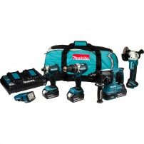 Makita DLX5042PT 18v 5Pc Combo Kit inc 3x 5Ah Batts with Twin Charger
