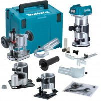 Makita DRT50ZX3 18v LXT Brushless Cordless Router Body Only inc Extra Bases