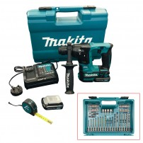 Makita HR166DSAE1 10.8v CXT Slide SDS+ Plus Hammer Drill inc 2x 2.0Ah Batts & Accessories