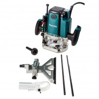 """Makita RP1801X 1/2"""" Plunge Router Fixed Speed inc Straight Guide with Fine Adjustment"""