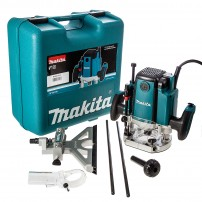 """Makita RP1801XK 1/2"""" Plunge Router & Fine Adjustment Guide in Heavy Duty Carry Case"""