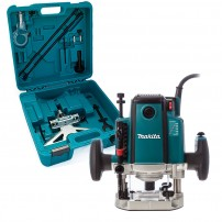 "Makita RP2301FCXK 1/2"" Plunge Router & Fine Adjustment Guide in Heavy Duty Carry Case"