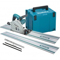 Makita SP6000J2 Plunge Saw 165mm inc 2x Guide Rails, Joining Bar & Makpac Case