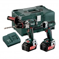Metabo 2.1.5 18v Combi Drill & Impact Driver Combo Set inc 2x 5.2Ah Batts