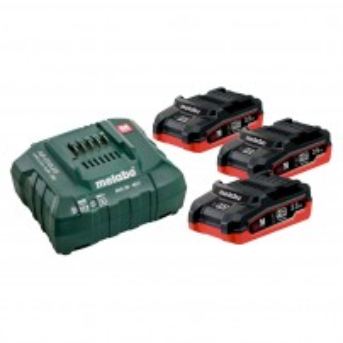 Metabo 685101000 18v Basic Set inc 3x 3.5Ah LiHD Batteries & ASC 30-36 V Charger