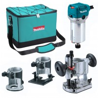 """Makita RT0700CX2 1/4"""" Router / Trimmer with Trimmer, Tilt and Plunge Bases"""