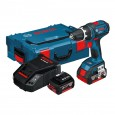 Bosch GSR 18 V-LI Drill/Driver inc 2x 4Ah Batts in L-Boxx Carry Case 0601866177