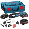 Bosch GOP 18 V-EC Brushless Multi-Cutter with 20 Accessories inc 2x 4Ah Batts 06018B0070