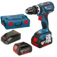 Bosch GSB 18 V-EC Professional Brushless Combi Drill inc 2x 4Ah Batteries in L-Boxx