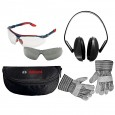 Bosch Safety Kit inc Gloves, Glasses and Ear Defenders 0615990ER3