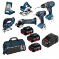 Bosch BAG+6DS 18v 6 Piece Cordless Tool Kit with 3x 5.0Ah in LBAG+ 0615990H93