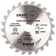 Trend CSB/CC25424T CraftPro Saw Blade Crosscut 254mm x 24 Teeth x 30mm Thin Kerf