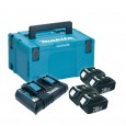 Makita 196696-4 Power Source Kit inc 4x 3.0Ah Batts, Twin Charger & Makpac Case