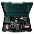 Metabo 2.1.6 18v Combi Drill & Impact Driver Combo Set inc 2x 4.0Ah Batts