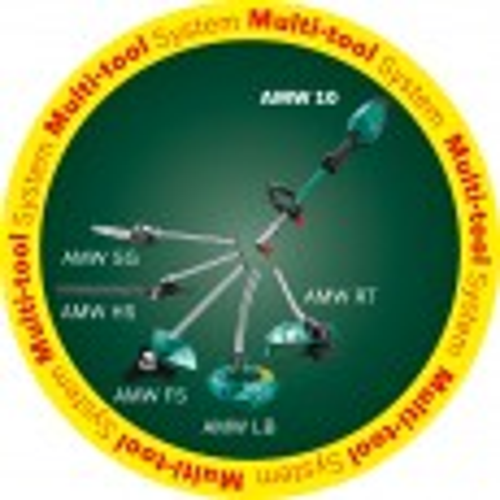 Bosch Green AMW 10 SG Corded Multi Tool inc Tree Pruner Attachment 1000W 240v 06008A3270