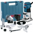 "Bosch GKF 600 1/4"" Palm Router/Laminate Trimmer Kit inc Extra Bases"