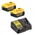 DeWalt DCB182X2/DCB115 2x 4.0Ah XR 18v Li-Ion Batteries and Charger Starter Kit