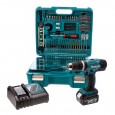 Makita DHP453RFTK 18v Combi Drill inc 1 x 3Ah Battery in Case with 101 Piece Accessory Set