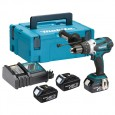 Makita DHP458RF3J 18v Combi Drill with 3x 3.0Ah Batts in Makpac Case