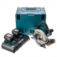 Makita DLX2084PMJ 18v Cordless 2 Piece Kit DHP456 Combi + DHS710 Circular Saw inc 4x 4Ah Batteries