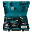 Makita DLX2005X2 18v Impact Driver/Combi Drill Kit inc 3x 3Ah Batts + 4x Impact Gold Bits