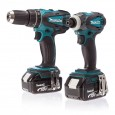 Makita DLX2012MX 18v Combi Drill & Impact Driver Kit inc 2x 4Ah Batts