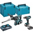 Makita DLX2069PMJ 18v Cordless 2 Piece Kit DHP456 Combi + DHR263 SDS+ Hammer inc 4x 4Ah Batteries