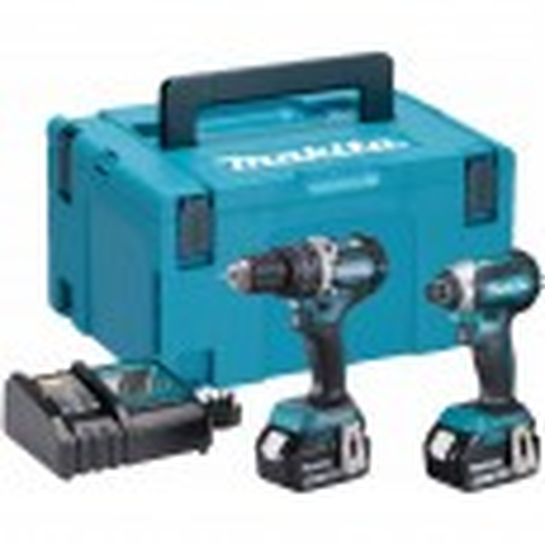 Makita DLX2180TJ 18v Cordless Brushless Twin Kit DHP484 Combi Drill & DTD153 Impact Driver inc 2x 5.0Ah Batts
