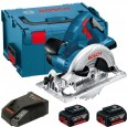 Bosch GKS 18 V-LI Circular Saw inc 2x 4Ah Batts in L-Boxx Carry Case