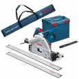 Bosch GKT 55 GCE Plunge Saw, 2x Rails, Connector & Bag 240v 0601675071