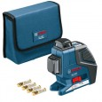 Bosch GLL 2-80 P Cross Line Laser inc BM1 Mount & LR2 Receiver in L-Boxx