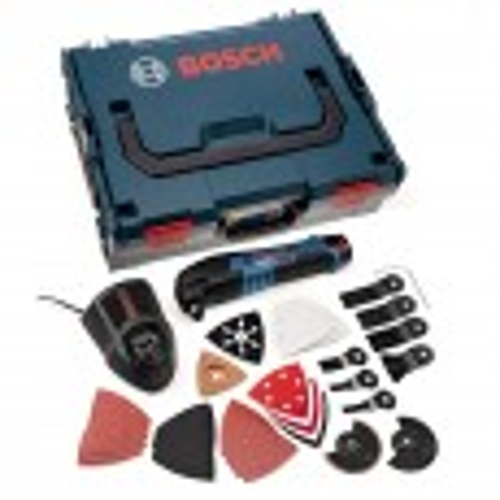 Bosch GOP 10.8 V-LI Multi Cutter inc 1x 2.5Ah Battery + 36 Accessories in L-Boxx