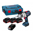 Bosch GSB 18 VE-2-LI RS Combi Drill inc 3x 5.0Ah Batts in L-Boxx 0615990GF5